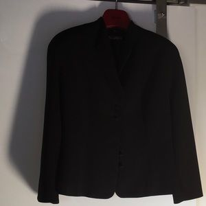 Tahari black blazer w covered buttons